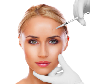 a woman on her botox treatment